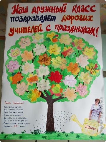 Плакат учителю на день рождения своими руками
